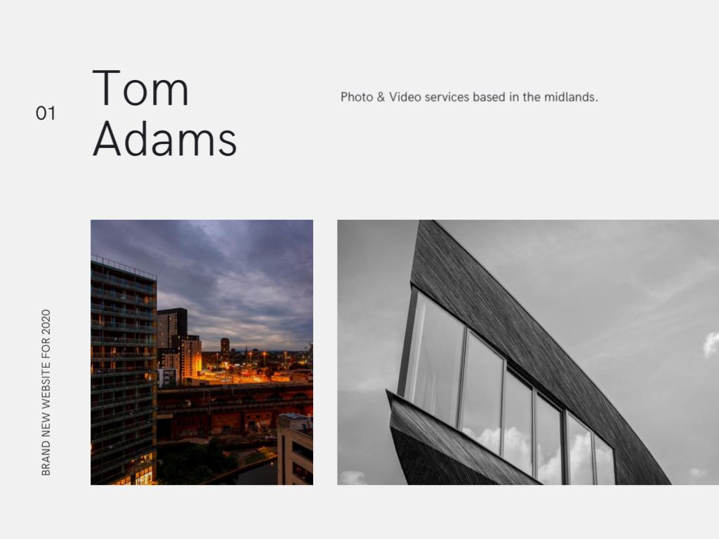 Tom Adams 2020 Promo