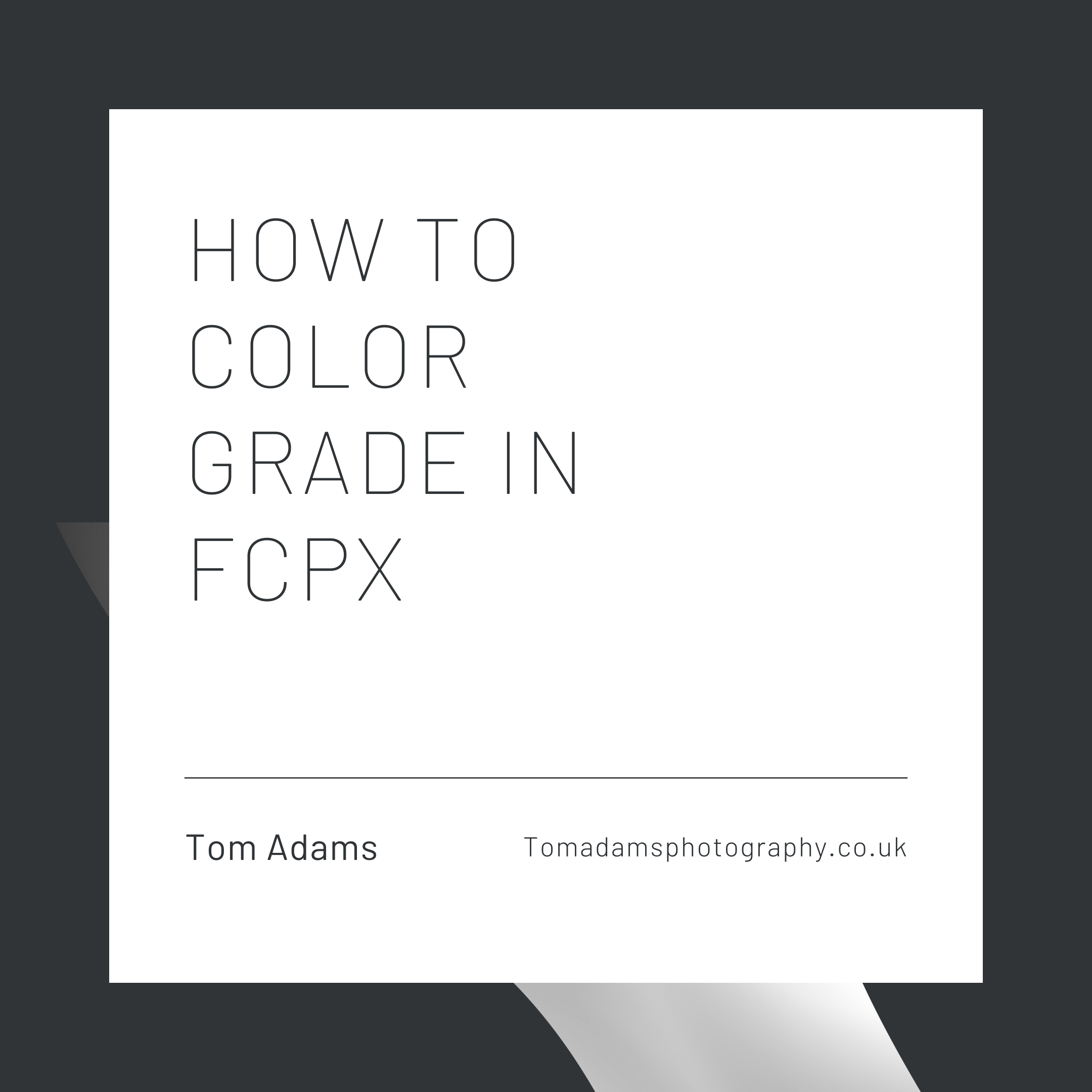 How To color grade in FCPX
